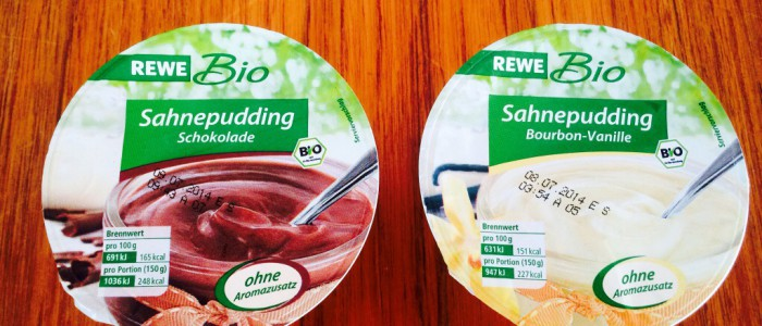 REWE Bio - Sahnepudding Schoko/Vanille