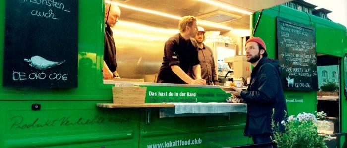 Der grüne Truck von Lokal1food Club