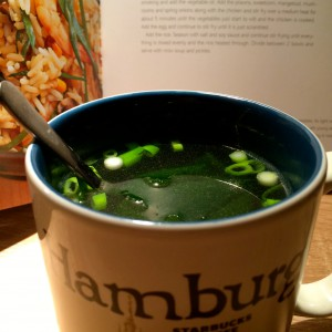 Miso soup in a Hamburg cup