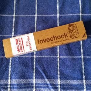 Lovechock auf einem blauen Trockentuch