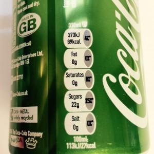 RDA Werte der Coca Cola Life