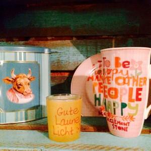 Tasse, Teelicht-Glas und Dose