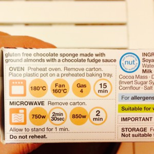 Baking instructions