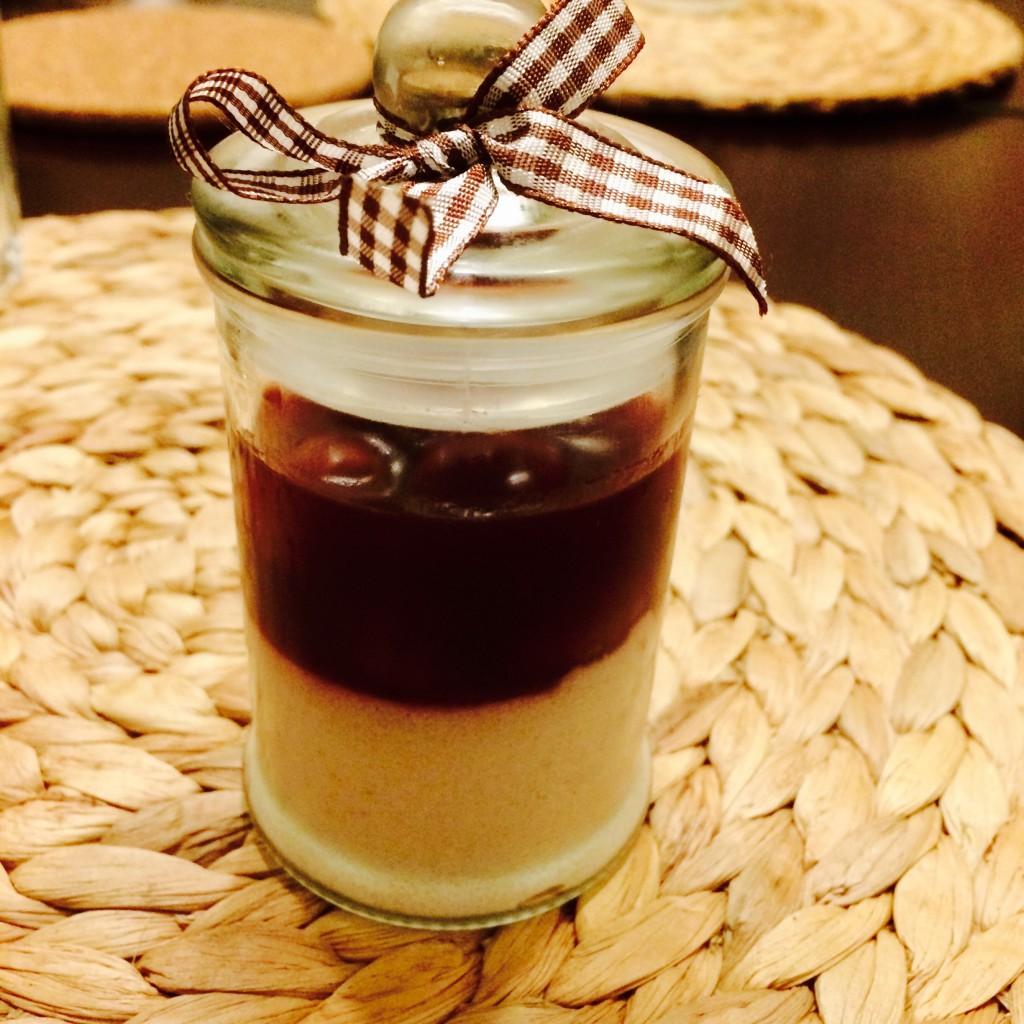 Weihnachtsessen: Lebkuchengrieß mit Kirschen