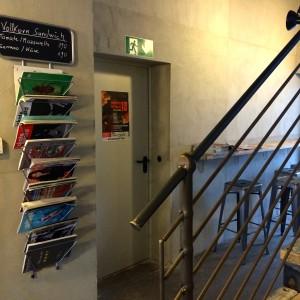 Treppengeländer, Magazinständer