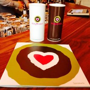 Speisekarte und Salz-/Pfefferstreuer mit dem Burgerlich Logo