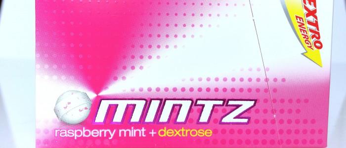Verpackung der Himbeere Dextro Energy Mintz