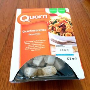 Quorn Geschnetzeltes Verpackung mit Sichtfenster