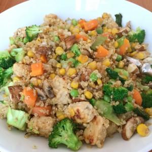Quinoa mit Quorn und Gemüse