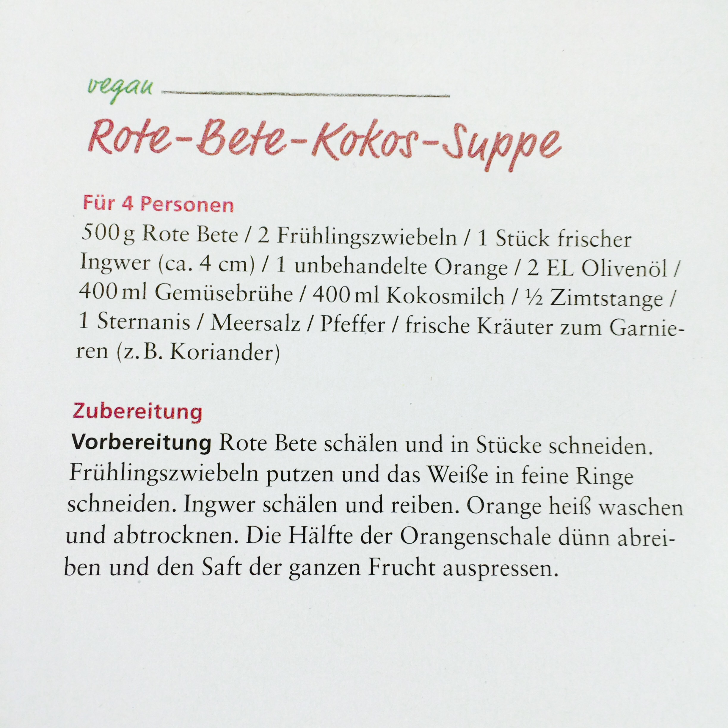 suppe rote beete ingwer