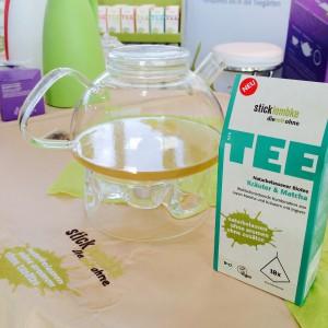 """Teekanne und Teebox sticklembke """"Kräuter & Matcha"""""""