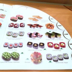 Speisekarte des Sushi Circle - Teil 2