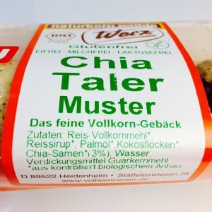 Etikett der Musterpackung Werz Chia Taler