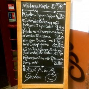 Mittagskarte des Schanzenstern Hamburg