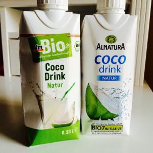 Coco Drink natur von dm Bio und von Alnatura
