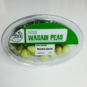 Wasabi Erbsen Box von oben