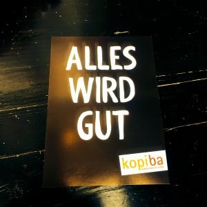 kopiba Postkarte mit Aufschrift: Alles wird gut