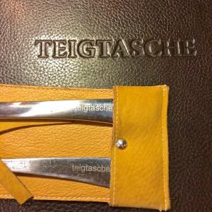 Teigtasche Hamburg Besteck mit Aufschrift