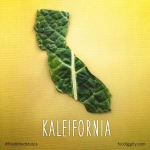Kalifornien aus Kale/Grünkohl