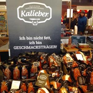 Verpackte Fleisch- und Wurstprodukte von Kaliber