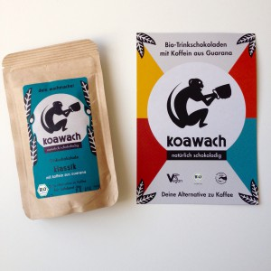 koawach klassik Verpackung mit koawach Werbepostkarte