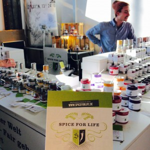 "Stand von ""Spice for life"""