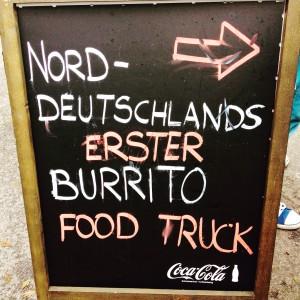 """Aufsteller von Burristas """"Norddeutschlands erster Burrito Food Truck"""""""