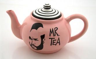 Mr. Tea vom A-Team als Aufdruck einer Teekanne, Tee Geschenk