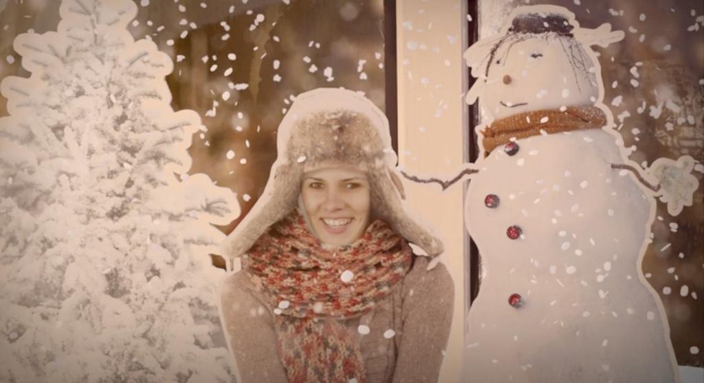 Screenshot aus meinem personalisierten REWE Weihnachtsclip - Weihnachten von Herzen