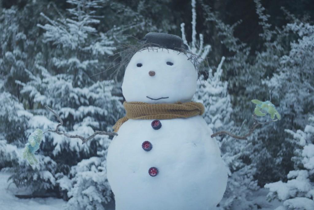 Schneemann für ein Weihnachten von Herzen