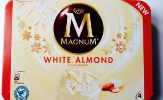 Produktverpackung Magnum Mandel weiß