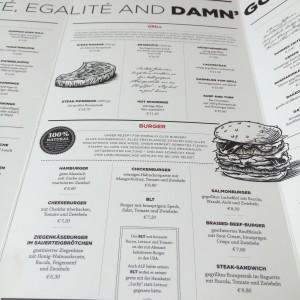 Gegrilltest und Burger in der Speisekarte des Atelier F Hamburg