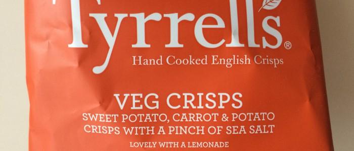 Tyrrells Veg Crisps Verpackung nah