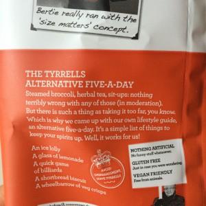 "Verpackungstext ""Five-A-Day"" von Tyrrells Veg Crisps"