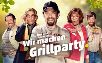 Plakat: Wir machen Grillparty.