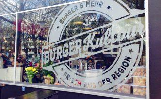 BurgerKultour Fensterscheibe mit Logo