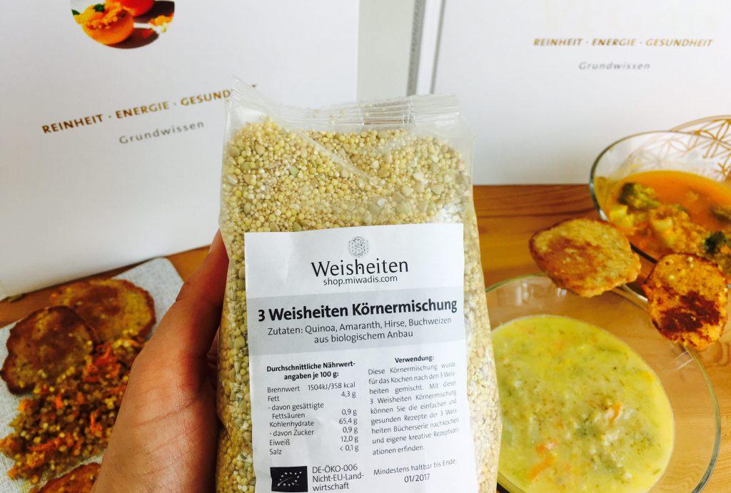 Körnermischung, Gerichte und 3 Weisheiten Kochbücher