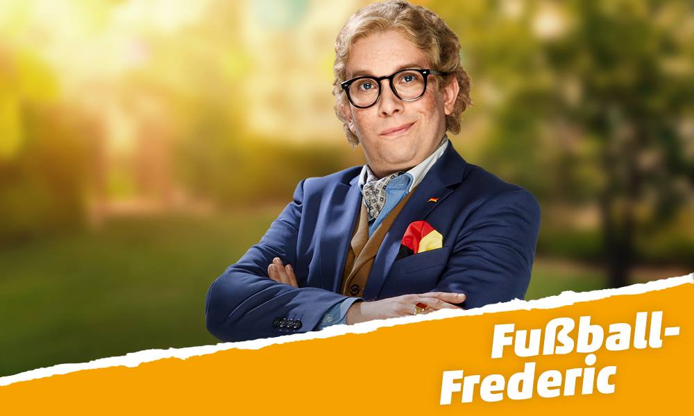 Fusball-Frederic in seiner vollen Pracht
