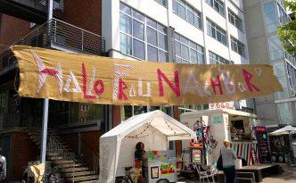 Hallo Frau Nachbar Phönixhof - Banner