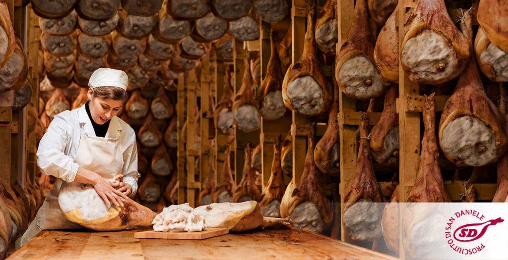 Prosciutto di San Daniele und Grana Padano - Schinkenherstellung