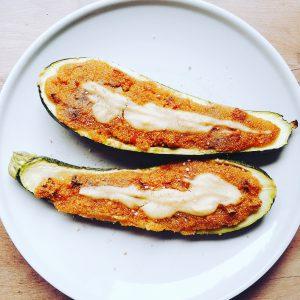 Zucchini mit Amaranthfüllung - Vegan For Fit Challenge Einkaufsliste