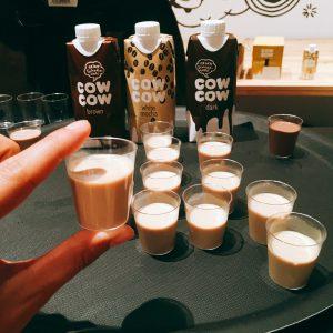 Kostproben von cow cow Milchprodukten
