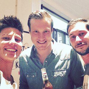 Selfie mit Marcell Jansen, Bastian von Caté und mir