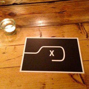 """Die Bestellkarte im """"Das Mehl"""" mit einem x abgebildet"""