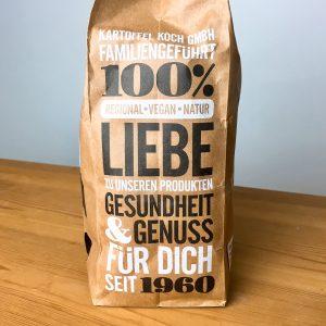 Verpackung mit Statement zu Kartoffel Koch