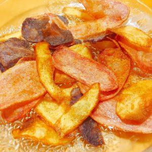 Gewürzte Chips aus dem Kartoffel Koch Mix