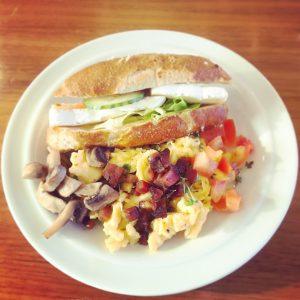 Frühstücksteller vom Bloggertreffen