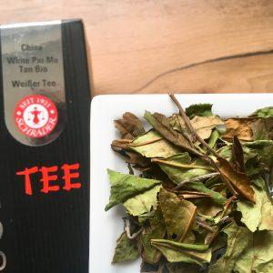 Teeblätter vom Pu Mai Tee